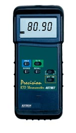 Extech 407907-NIST Heavy Duty RTD Thermometer with PC interface (NIST Certified)