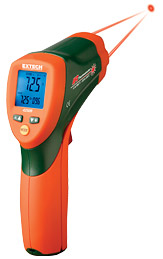 Extech 42509 Dual Laser IR Thermometer with Color Alert w/ FREE UPS