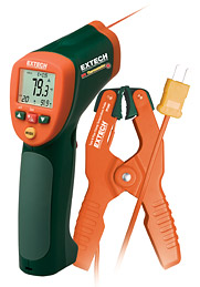 Extech 42515-T Wide Range IR Thermometer with Type K input and Pipe Clamp