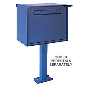 Salsbury 4277B Pedestal Drop Box-Jumbo-Blue