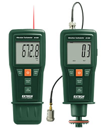 Extech 461880-NIST Vibration Meter + Laser/Contact Tachometer (NIST Certified)