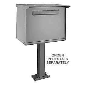 Salsbury 4277G Pedestal Drop Box-Jumbo-Gray