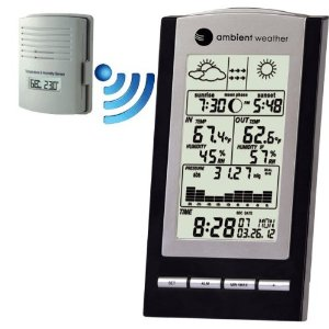 Ambient Weather WS-1173A Wireless Advanced Weather Station with Temperature, Dew Point, Barometer and Humidity, Sunrise, Sunset and Moonphase