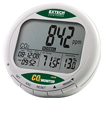 Extech CO200 Desktop Indoor Air Quality CO2 Monitor with FREE UPS