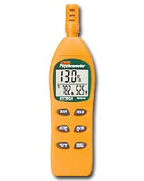 Extec RH305 Digital Psychrometer with Calibration Kit (NIST Certified - allow 3 weeks for testing)