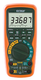 Extech EX540-NIST 12 Function Wireless True RMS Industrial MultiMeter/Datalogger (NIST Certified)
