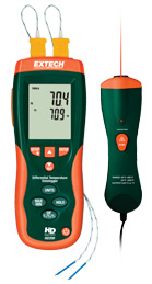 Extech HD200 Differential Thermometer Datalogger + IR Thermometer