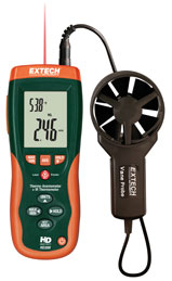 Extech HD300 CFM/CMM Thermo-Anemometer with IR Temperature