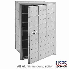 Salsbury industries 3618FLU 18 Door Horizontal Mailbox-Front Loading-A Size Doors-USPS Access