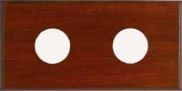 Maximum 2-Instrument Mahogany Panel
