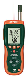 Extech HD500-NISTL Psychrometer with InfraRed Thermometer (NIST Certified)