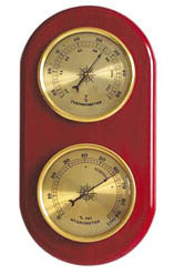 Ambient Weather WS-YG365 Cherry Finish Brass Dial Traditional Temperature and Humidity Station (discontinued)