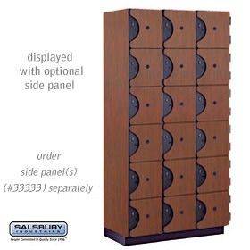 Salsbury industries 36368MAH 36368 SIX Tier Box Style Designer Locker-3 Wide-6 Feet High-18 inches Deep-Mahogany
