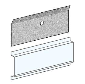 Salsbury industries 3697 Card Holder - Clear Plastic - For 4B+ Horizontal Mailboxes