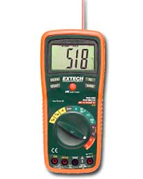 Extech EX450 MultiMeter with IR Laser Thermometer