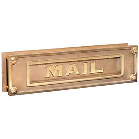 Salsbury industries 4075B Mail Slot-Deluxe-Solid Brass-Brass Finish