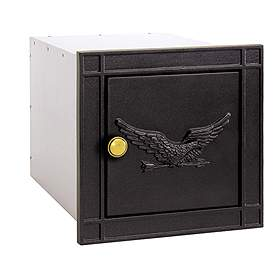 Salsbury Industries 4140BKE Column Mailbox-without Slot-Black-Eagle Door