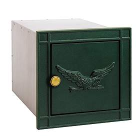 Salsbury Industries 4140GNE Column Mailbox-without Slot-Green-Eagle Door