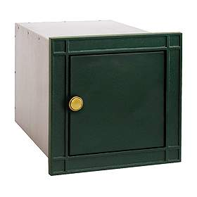 Salsbury industries 4140GNP Column Mailbox-without Slot-Green-Plain Door