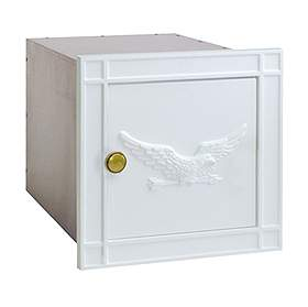 Salsbury Industries 4140WHE Column Mailbox-without Slot-White-Eagle Door