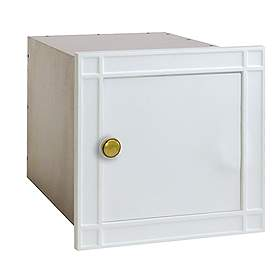 Salsbury industries 4140WHP Column Mailbox-without Slot-White-Plain Door