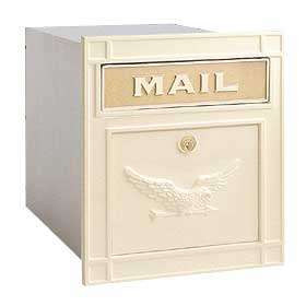 Salsbury Industries 4145BGE Column Mailbox-with Slot-Beige-Eagle Door-Lock with (2) Keys