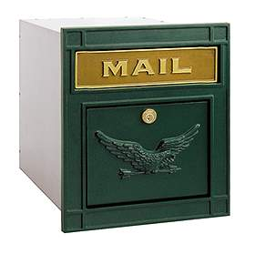Salsbury Industries 4145GNE Column Mailbox-with Slot-Green-Eagle Door-Lock with (2) Keys