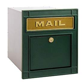 Salsbury Industries 4145GNP Column Mailbox-with Slot-Green-Plain Door-Lock with (2) Keys