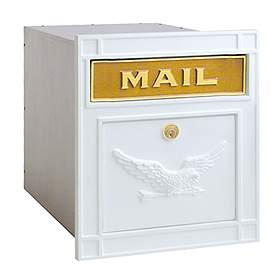 Salsbury Industries 4145WHE Column Mailbox-with Slot-White-Eagle Door-Lock with (2) Keys