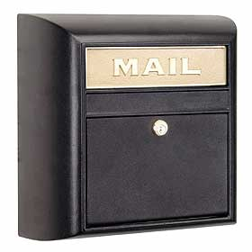 Salsbury Industries 4150BKP Modern Mailbox-Black-Plain Door