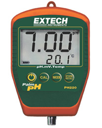 Extech PH220-C Waterproof Palm pH Meter w/ Cabled Electrode w/ FREE UPS