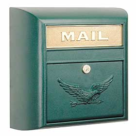 Salsbury Industries 4150GNE Modern Mailbox-Green-Eagle Door
