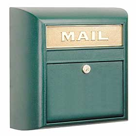 Salsbury Industries 4150GNP Modern Mailbox-Green-Plain Door