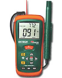 Extech RH101 Hygro-Thermometer + IR Thermometer with FREE UPS