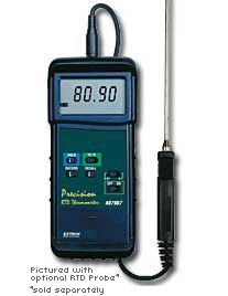 Extech 407907 Heavy Duty RTD Thermometer with PC Interface with FREE UPS