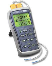 Extech EA10 Easyview type K Dual Input Thermometer with Dual Readings or with PC Interface