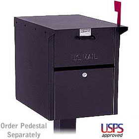 Salsbury industries 4350B Mail Chest-Front and Rear Access-Black