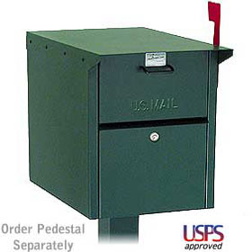 Salsbury industries 4350G Mail Chest- Front and Rear Access-Green