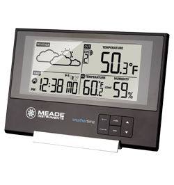 Meade TE346W Slim Line Weather Station with Atomic Clock