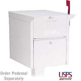 Salsbury industries 4350W Mail Chest-Front and Rear Access-White