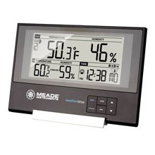 Meade TE256W Slim Line Weather Station with Atomic Clock