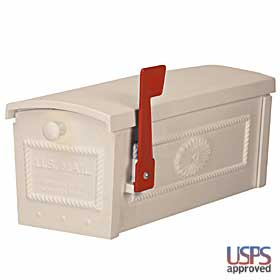 Salsbury industries 4550BGE TownHouse Mailbox-Post Style-Beige