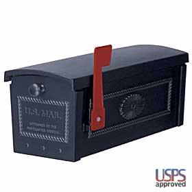 Salsbury industries 4550BLK TownHouse Mailbox-Post Style-Black