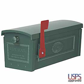 Salsbury industries 4550GRN TownHouse Mailbox-Post Style-Green
