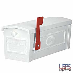 Salsbury industries 4550WHT TownHouse Mailbox-Post Style-White