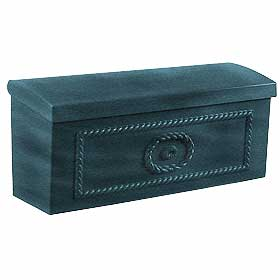 Salsbury industries 4560GRN TownHouse Mailbox-Surface Mounted-Green