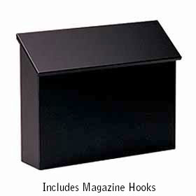 Salsbury Industries 4610BLK Traditional Mailbox - Standard - Horizontal Style - Black