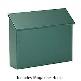 Salsbury Industries 4610GRN Traditional Mailbox - Standard - Horizontal Style - Green