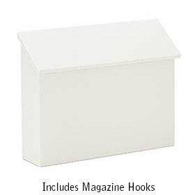 Salsbury industries 4610WHT Traditional Mailbox - Standard - Horizontal Style - White