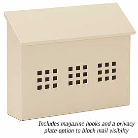 Salsbury industries 4615BGE Traditional Mailbox-Decorative-Horizontal Style-Beige